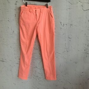 GAP KHAKI BRIGHT PINK PANTS 0